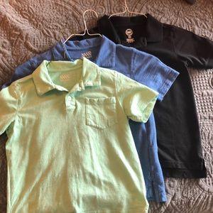 3 Boys Polo Shirts - 2 Old Navy, 1 Wonder Nation